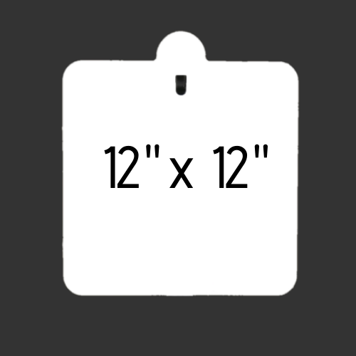 """12"""" x 12"""" Slotted Hook 3/8"""" Thick"""