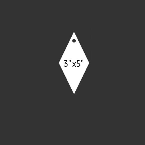 "3"" x 5"" Round Hole Diamond 1/2"" Thick"