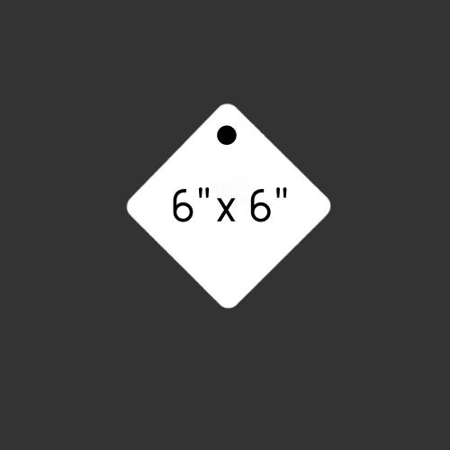 "6"" x 6"" Round Hole Diamond 1/4"" Thick"