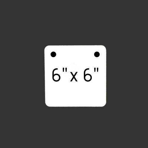 """6"""" x 6"""" Square 2 Hole 1/2"""" Thick"""