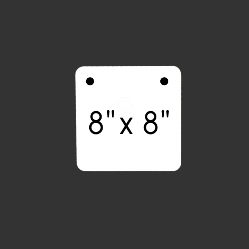"""8"""" x 8"""" Square 1/2"""" Thick"""