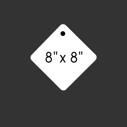 "8"" x 8"" Round Hole Diamond 3/8"" Thick"