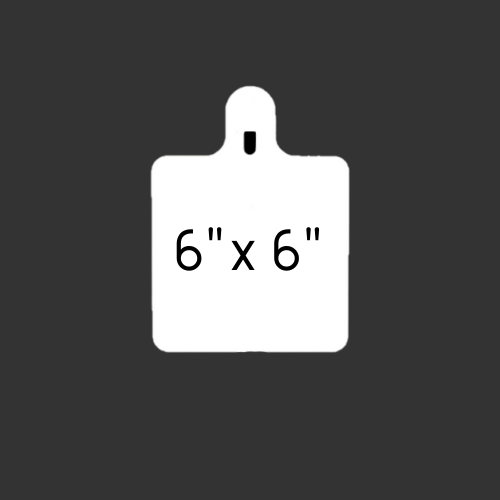 """6"""" x 6"""" Slotted Hook 1/2"""""""