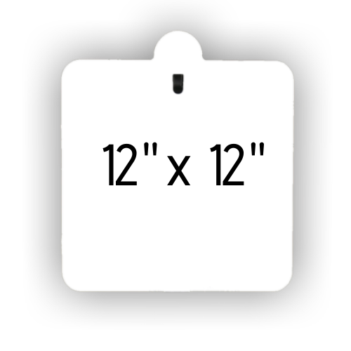 """12"""" x 12"""" Slotted Hook 3/8"""" Thick Package"""
