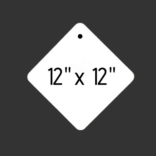 "12"" x 12"" Round Hole Diamond 3/8"" Thick"