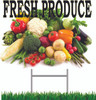 Fresh Produce 18in x 24in Yard Sign always gets you noticed.