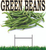 Green Beans Yard Sign is a welcoming sign for customer waiting for green beans season to start.