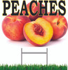 Peaches Yard Sign is a Wonderful Full Color Sign!