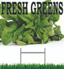 Fresh Green Yard Sign is a nice sign for local produce stands.