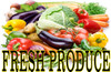 Fresh Produce Banner is Very Nice For Vegetable Stands VB 01