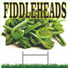 Farmers Market Fiddleheads Road Sign will get Customers Attention.