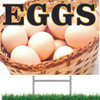 Nice Looking Eggs Road/Yard Sign that Will Bring In Customers.