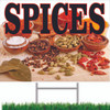 Very Colorful Spices Yard/Road Sign customers will take notice.