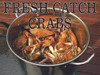 Fresh Catch Crabs Banner Lets Customers Know you Offer Fresh Crabs.