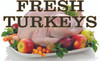 Fresh Turkey's banner nice and colorful for butcher shop.