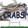 Crabs Road/Yard Sign is a  Beautiful Large Crab Yard Sign.