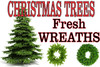 Banner Christmas Trees Fresh Wreaths .