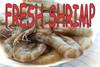 Fresh Shrimp Banner for Seafood Stands.