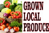 Grown Local Produce Banner is Very Colorful and will Bring in Shoppers.