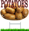 Potatoes On a Plate Road/Yard Sign draws in customer.