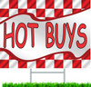 Hot Buys Automotive Sales Yard Sign.