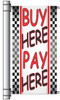 Buy Here Pay Here Used Car Dealer Pole Banner.