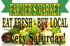 Farmer's Market Banner For Saturday