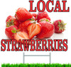 Local Strawberries Road Sign Draws In Shoppers.