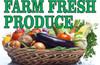 Farm Fresh Produce Banner for Farmers Markets.