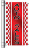 Red Racing Auto Sales Ligth Pole Banner