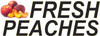 Fresh Peaches Banner with Large Letters 15 in. Great for Farmers Markets.