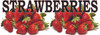 6ft. & *ft. Banner Only! Strawberries Banner is a Summer time Favorite.