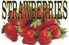 3ft. Banner Only! Strawberries Banner is a Summer time Favorite.