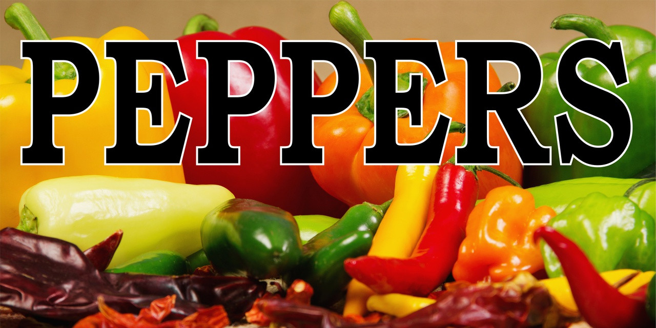 Peppers Banner is a Bright Colorful Produce Banners that Get Noticed!