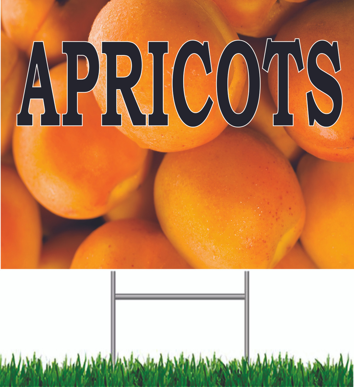 Apricots Yard Sign.