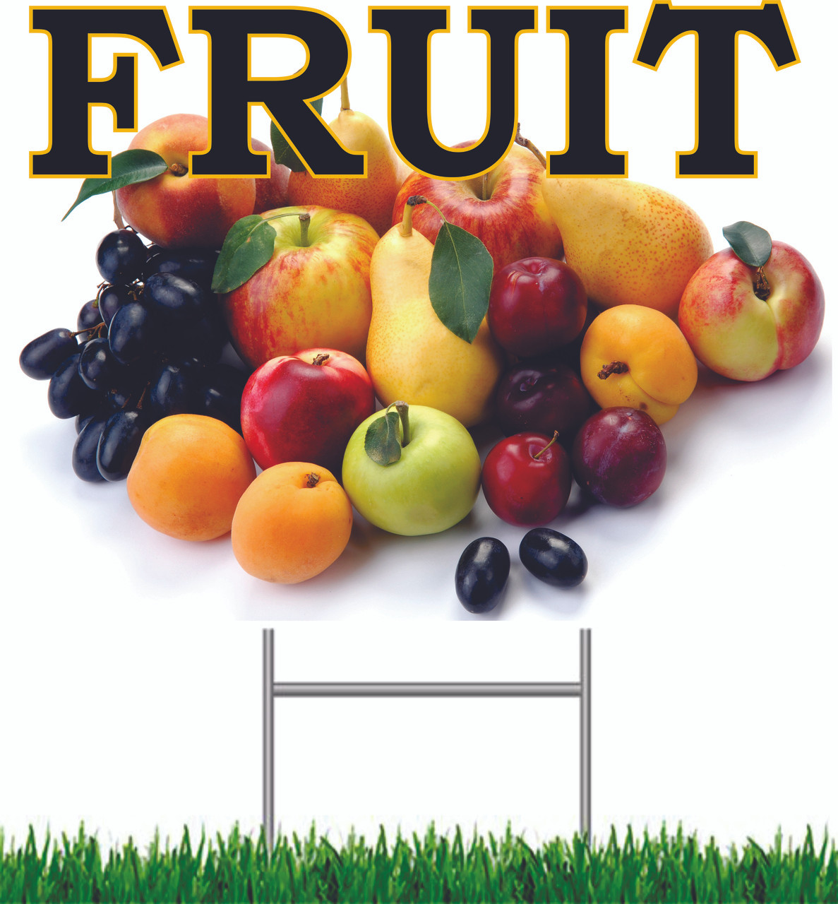 Fruit Yard Sign Very Nice Looking Road Sign!