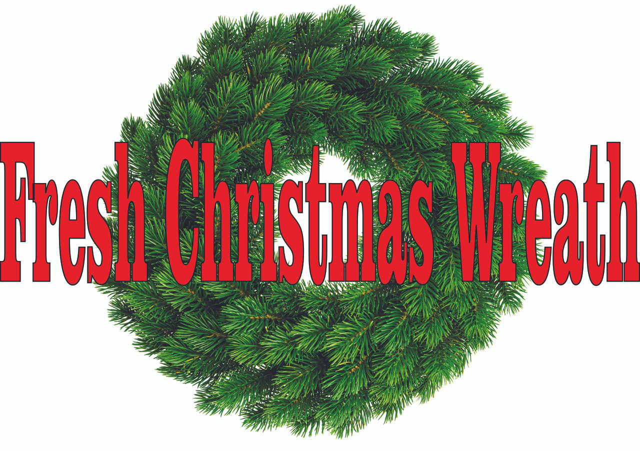 Fresh Christmas Wreaths.Christmas Wreaths Banner Sb 458