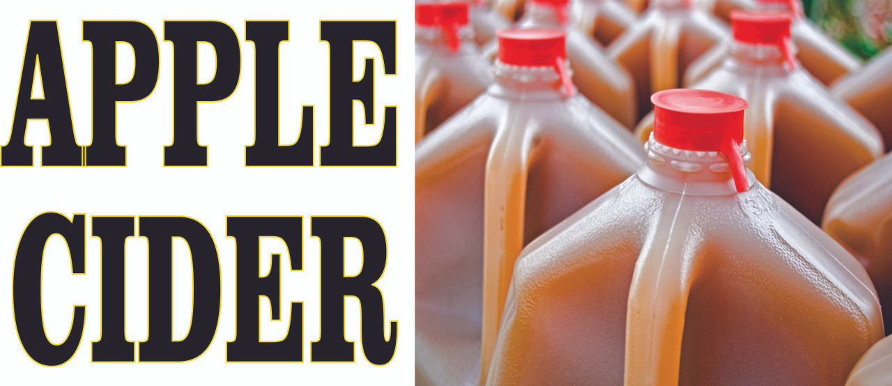 Buy an Apple Cider banner From Stop The Traffic  will Bring in New Customers.