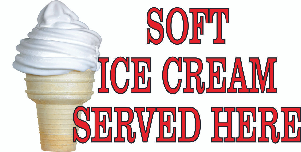 Bring In Customer with This Soft Ice Cream Banner.