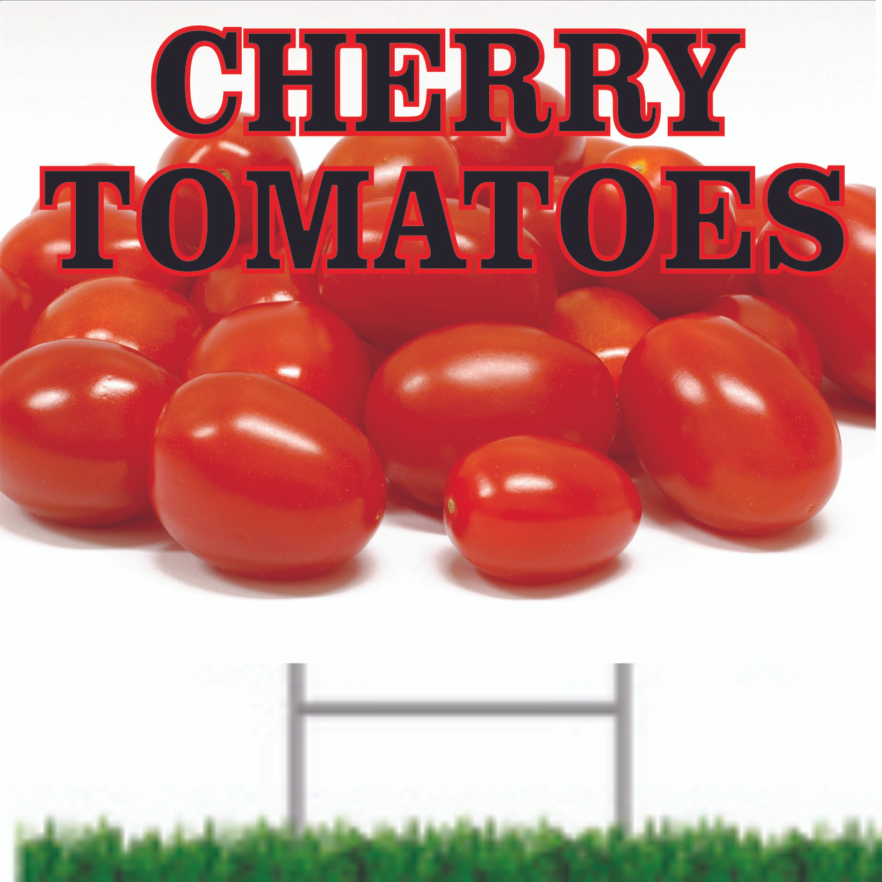 Cherry Tomatoes Road Sign Brings in Customers.