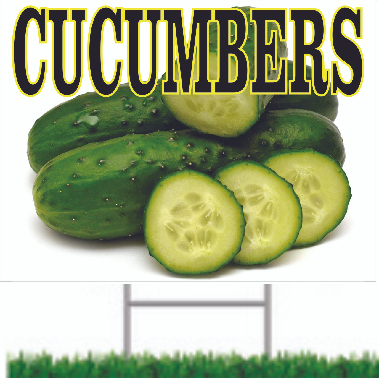 Cucumbers Road Sign Will Bring In Customers.