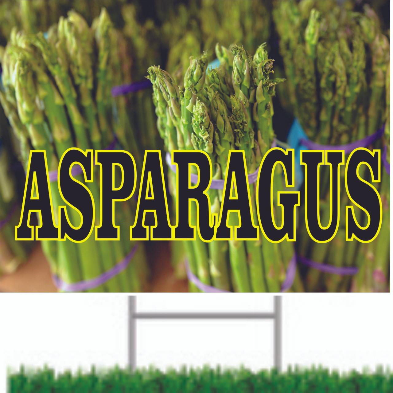 Asparagus Road Sign Brings In Customers.