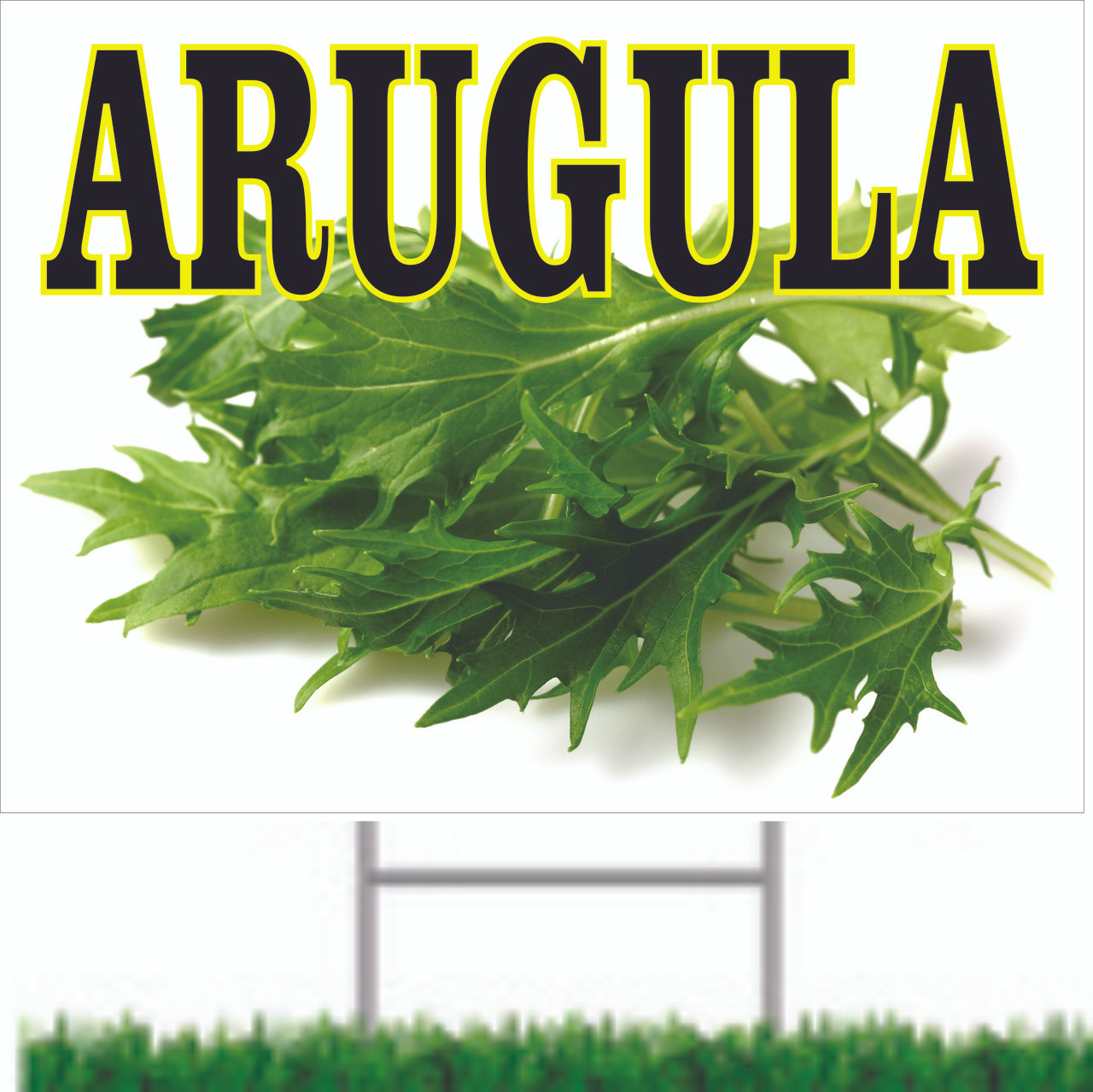 A colorful Arugula Road Sign that Will Get You Noticed.