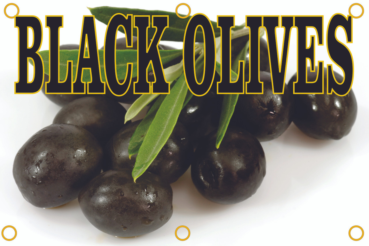 You Will Get Noticed with This Black Olives Banner.