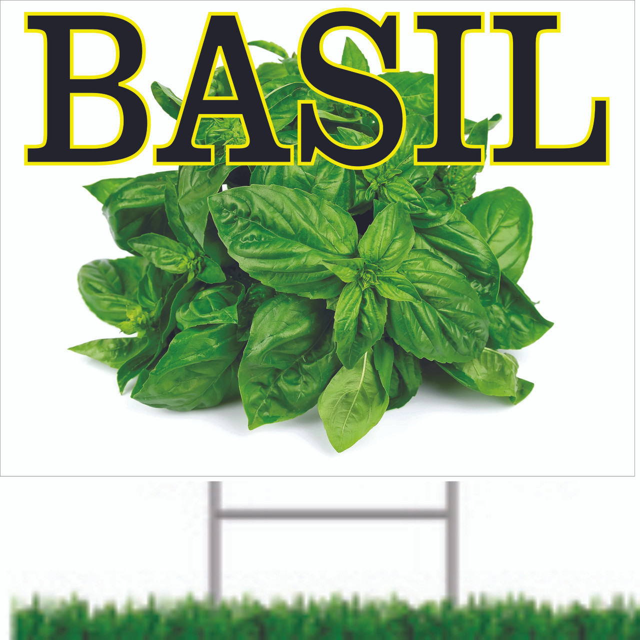 Basil Road Sign One of Many Spice Signs from Stop The Traffic.