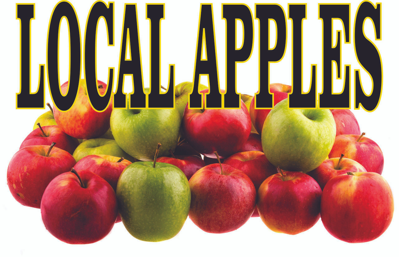 Very Nice Looking Local Apples Banner Gets Noticed.