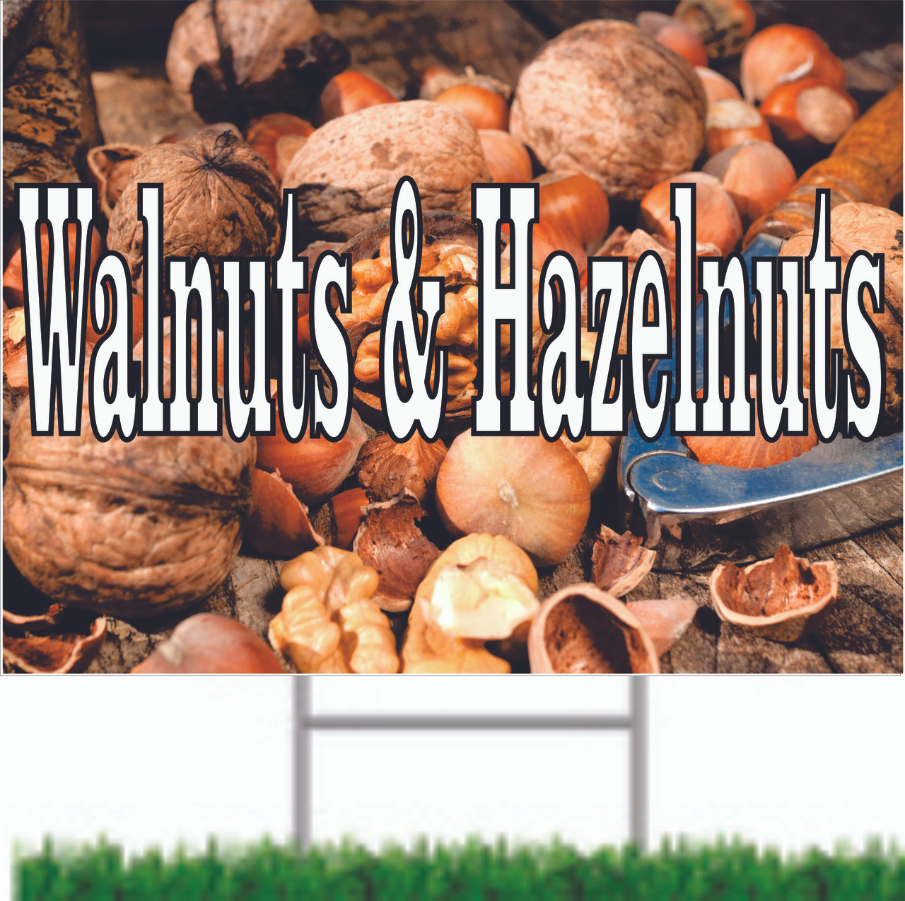 Very Nice Looking Walnuts Road Sign Will Get Noticed.