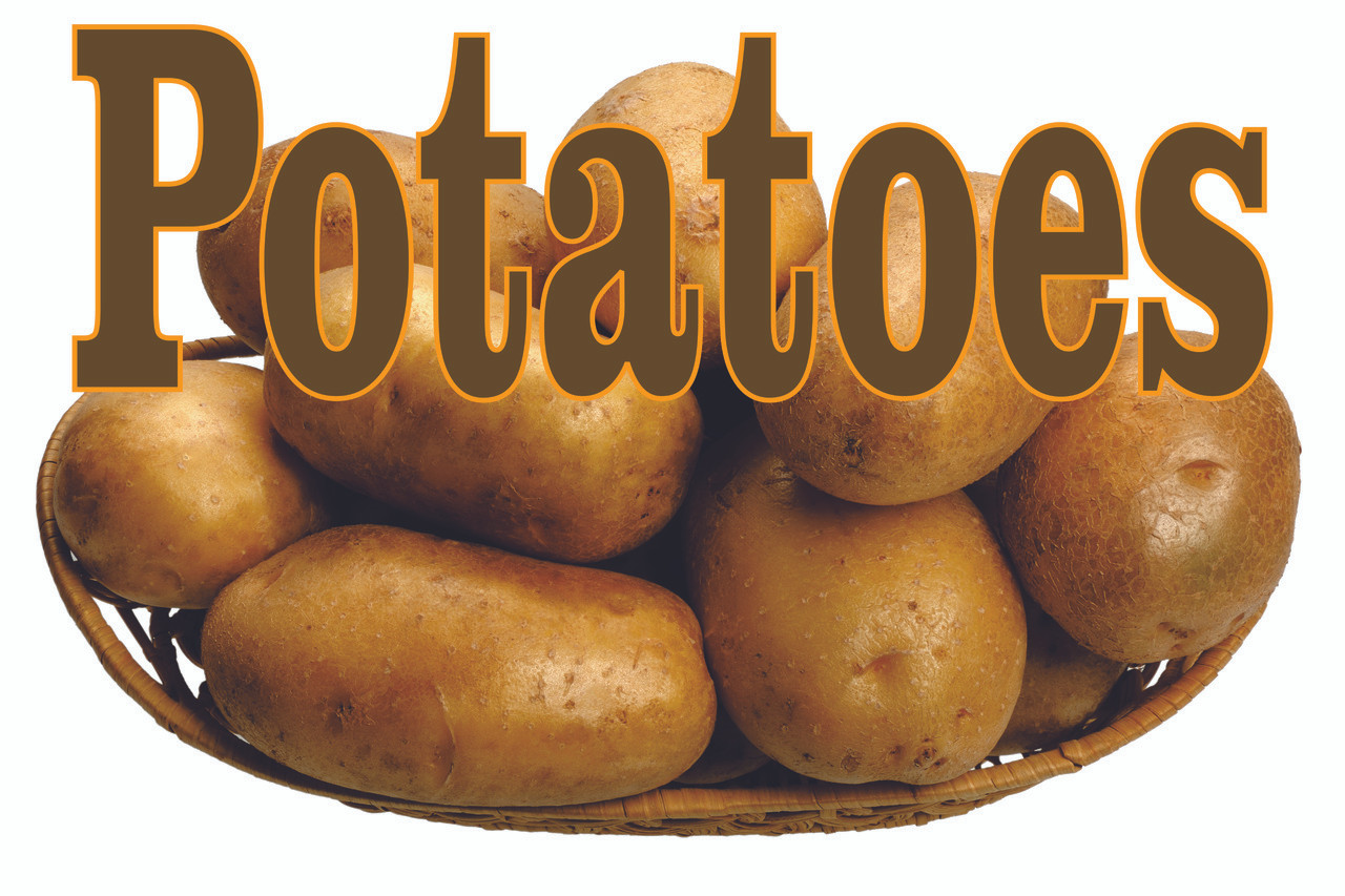 Potatoes Banner Nice Vegetable Stand or Food Store VB 184