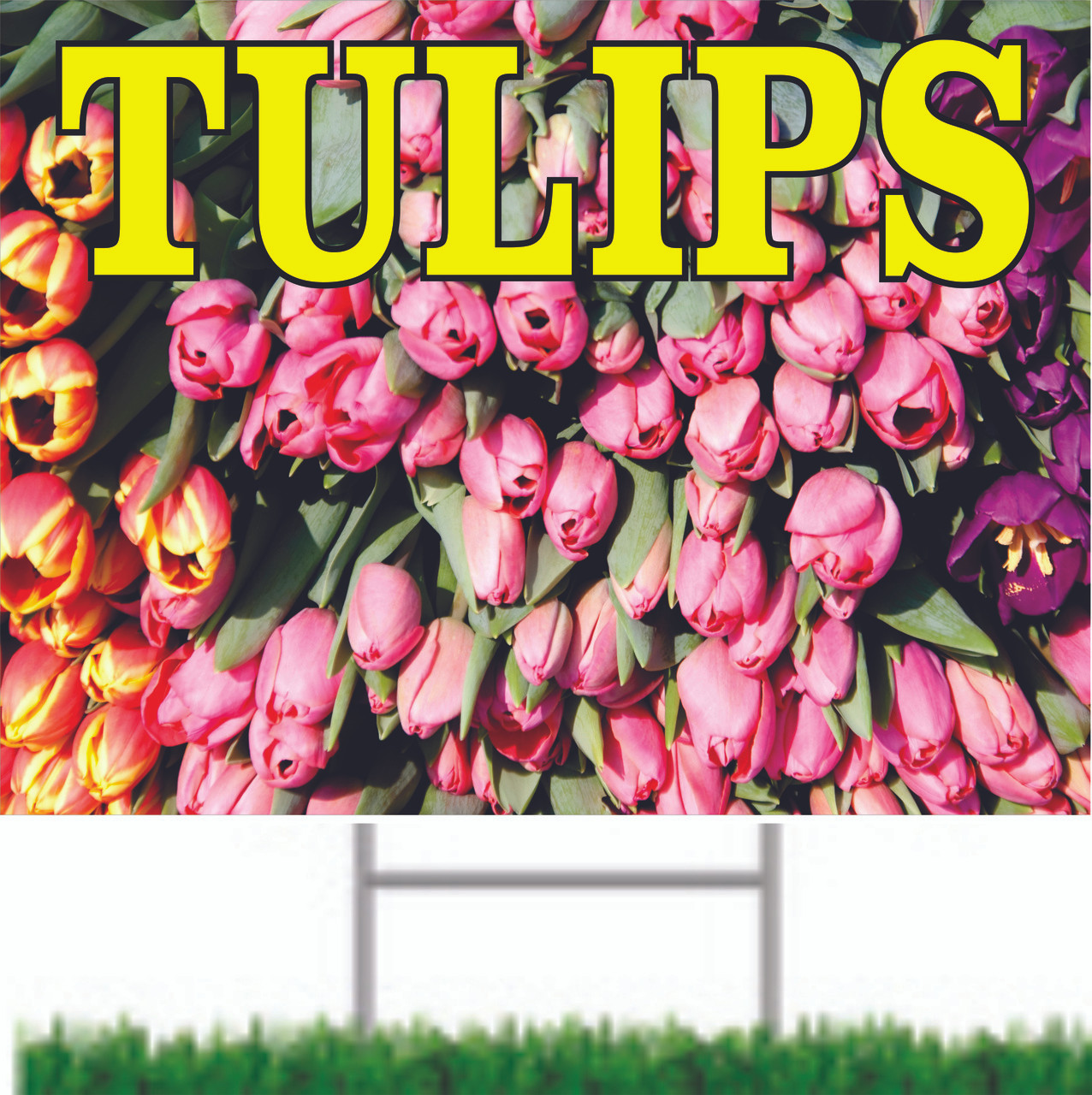 Tulips Road/Yard Sign Help Draw In New Customers.