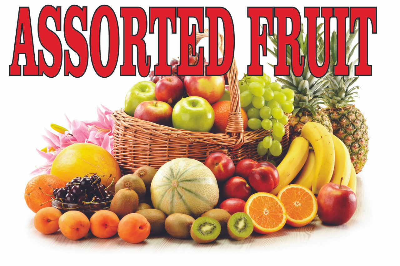 Assorted Fruit Banner With Hd Life Like Image